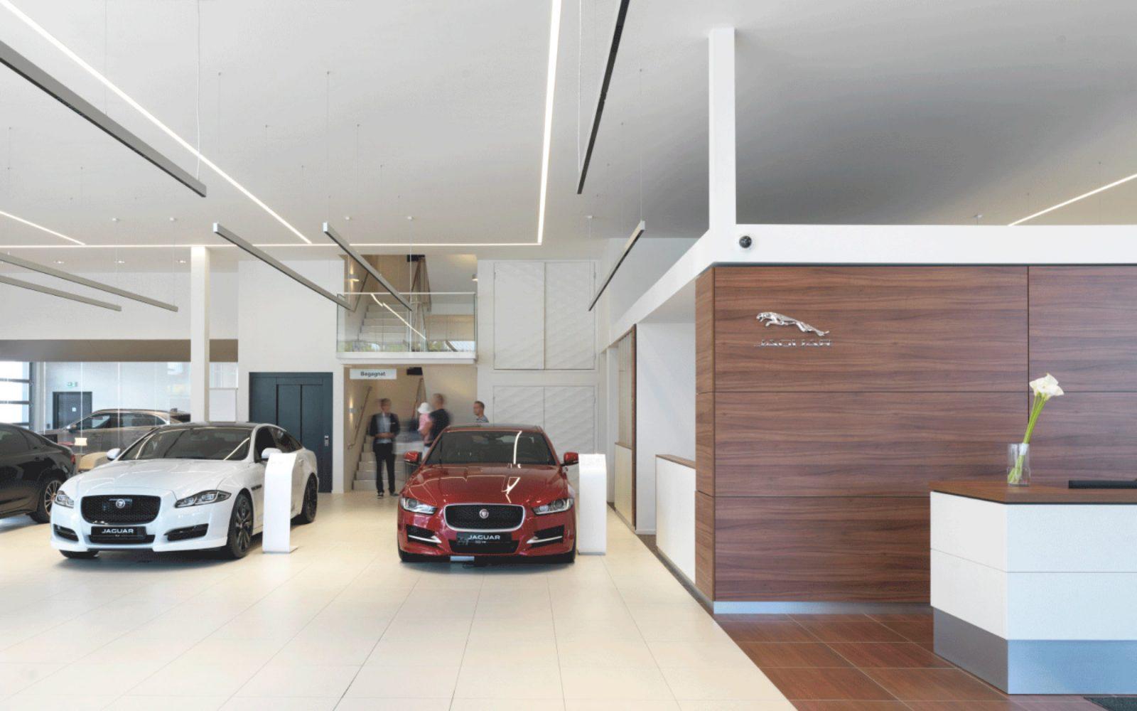 car dealership interior